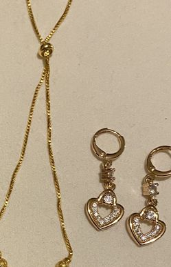 Beautiful Gold Plated Bracelet And Earrings for Sale in Lawrence,  MA