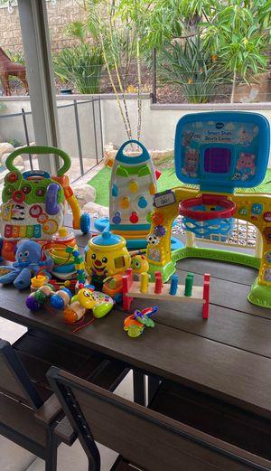 Baby toys, walker , basket ball hoop lot for Sale in Corona, CA
