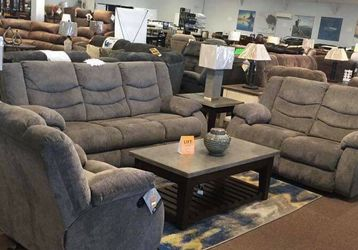 Tulen Gray Reclining Living Room Set /couch / Sofa and Loveseat for Sale in Austin,  TX