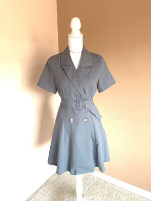 Dusty blue belt dress for Sale in Dublin, CA