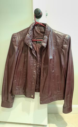 Dark brown Winlit brand leather unisex jacket for Sale in Rockville, MD