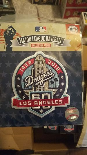 Dodgers 60 collector patch for Sale in Paramount, CA