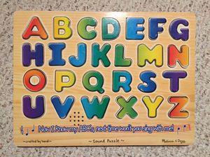 Melissa & Doug Alphabet Sound Puzzle for Sale in Austin, TX