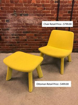 Bludot chair and ottoman for Sale in Boston, MA