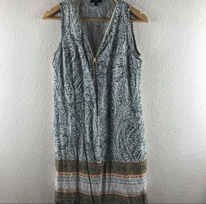 MSK Paisley Zipper Dress Size Medium Petite for Sale in El Cajon, CA