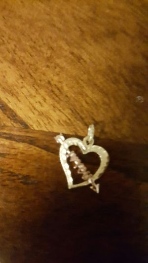 "14k gold ""I love you"" heart charm pendant for Sale in Severn, MD"