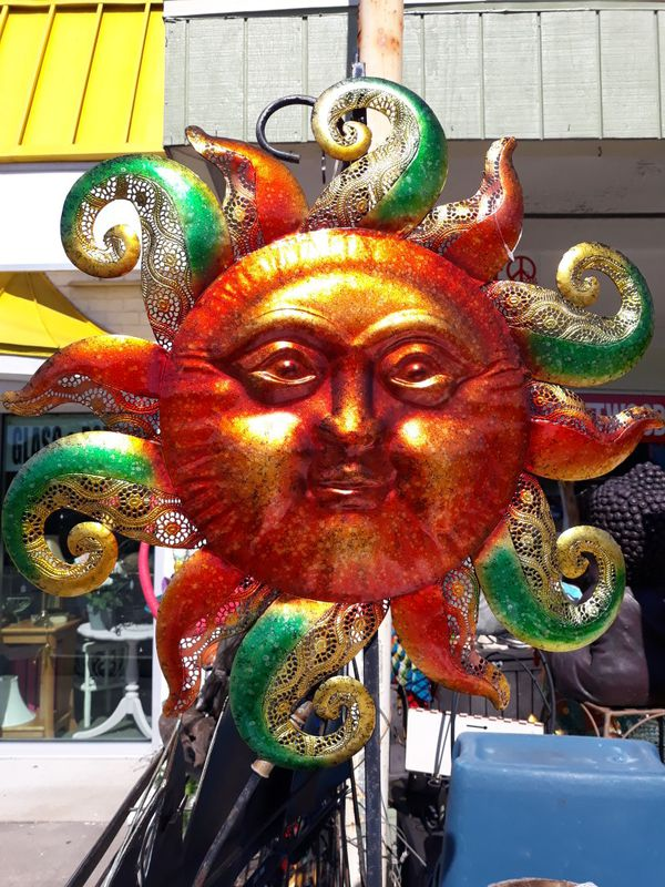 Colorful Sun face wall art weekend special