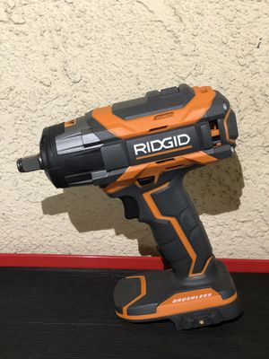 RIDGID 18-Volt OCTANE Cordless Brushless 1/2 in. Impact Wrench (Tool Only) with Belt Clip - New Open Box for Sale in Fontana, CA