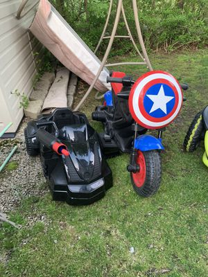 Power Wheels 12volt Captain America Motorcycle for Sale in Holbrook, MA