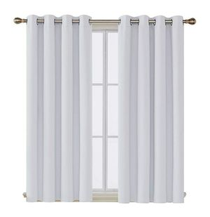 Deconovo Darkening Thermal Insulated Blackout Grommet Window Curtain Panel for Living Room, 52x63 Inch, Off White for Sale in Yorba Linda, CA