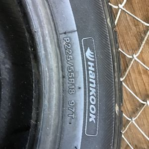 2 Tires 225/55/18 Hankook for Sale in National City, CA