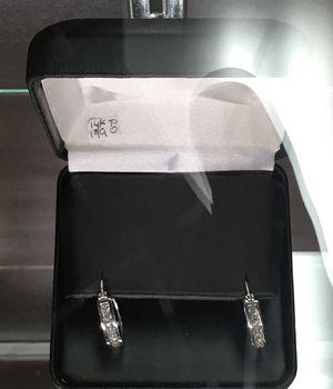 14k white gold diamond earrings for Sale in Bakersfield, CA