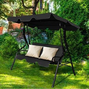 SHIPPING ONLY 3 Seat Canopy Gazebo Porch Swing Glider Set w/Cushions for Outdoor Areas for Sale in Las Vegas, NV