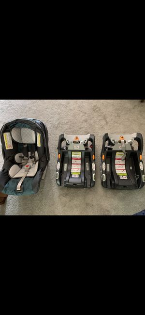 Chicco Keyfit 30 infant Car Seat, 2 Bases, and Stroller for Sale in Jacksonville, FL
