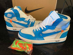 New air jordan 1 offwhite size 9 10 for Sale in Hollywood, FL