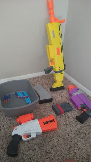 3 Nerf Guns w/ extra bullets $40 batteries included for Sale in Albuquerque, NM