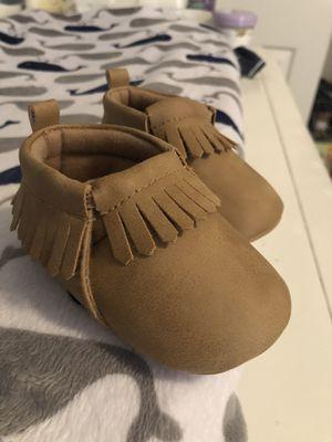 Baby Mocassins crib shoes Size 3-6 BRAND NEW for Sale in Sahuarita, AZ