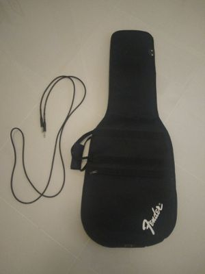 Guitar gig bag and cable for Sale in Orlando, FL