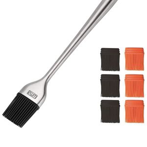 Rwm Basting Brush - Heatproof Stainless Steel Pastry Brush with 6 Pack Back up Silicone Brush Heads Rust Resistant, BPA Free, Food Grade for BBQ Grill for Sale in Redlands, CA