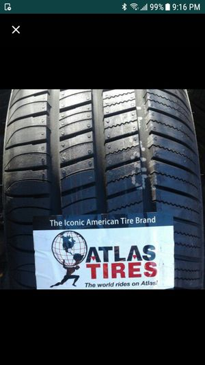 175/65r15 (4) NEW ATLAS TIRES free installation and balance NO TAX Prius C mini copper etc for Sale in Los Angeles, CA