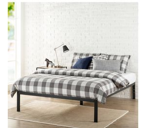"""Zinus 14"""" Metal Platform Bed with Wood Slat Support, twin size black color j5-2105 for Sale in St. Louis, MO"""