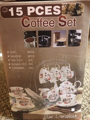 Coffee set 15 piece for Sale in Rockford, IL