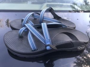 CHACO ZONG Womens Blue/White Cloud Slide on Sandals Size 7 for Sale in Kent, WA