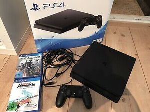 Sony PlayStation PS4 Slim w/Controller & Cords 1TB w/Black for Sale in Atco, NJ