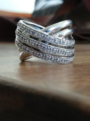 Genuine Diamond and Silver ring .45TDW size 6 for Sale in Salt Lake City, UT