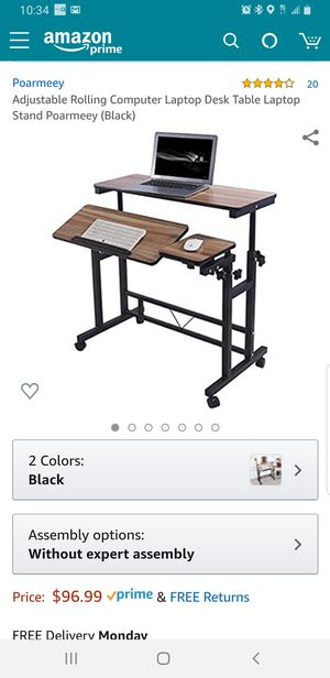 Adjustable Rolling Computer Laptop Desk for Sale in Fox Lake, IL