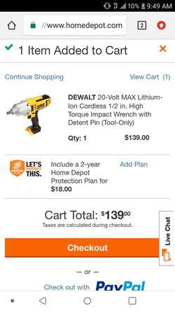 Dewalt 1/2 in cordless impact wrench for Sale in Wichita,  KS