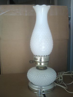 Vintage milk glass hurricane lamp for Sale in Whittier, CA