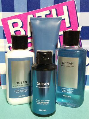 💙 Bath & Body Works 💙 MENS OCEAN 4pc. SET 💙$30 to Ship / $28 Pickup 💙 Gifts for all OCCASIONS! for Sale in Pomona, CA
