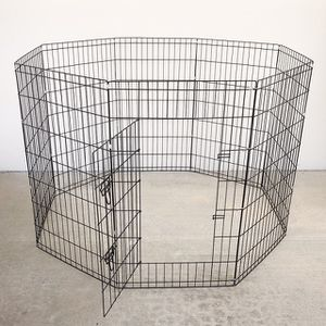 """(NEW) $45 Foldable 42"""" Tall x 24"""" Wide x 8-Panel Pet Playpen Dog Crate Metal Fence Exercise Cage Play Pen for Sale in Whittier, CA"""