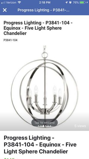 Progress Lighting - P3841-104 - Equinox - Five Light Sphere Chandelier. New in box we never used it for Sale in Williamsburg, VA