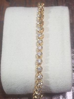 Real Diamond bracelet 14k for Sale in Waterbury, CT