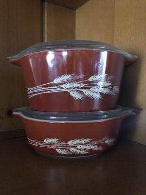 Pyrex autumn harvest casserole bowls for Sale in Riverside, CA
