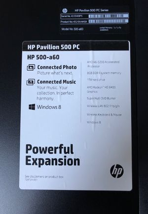HP PAVILLION 500 PC for Sale in Scituate, MA