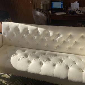 White Futon 80 Inches Long for Sale in Addison, IL