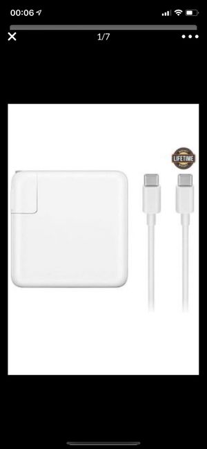 Brand new Mac Book Pro Charger, 61W USB-C To USB-C Ac Power Adapter Charger Replacement For MacBook for Sale in Belmont, CA