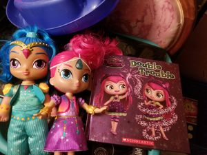 Shimmer and shine dolls & book for Sale in Lakewood, CO