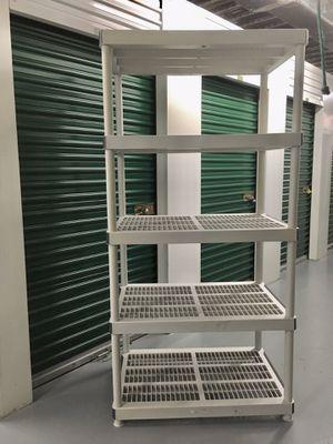 5 Tier Heavy Duty Plastic Utility Storage Shelf in Great Condition for Sale in Oakland Park, FL