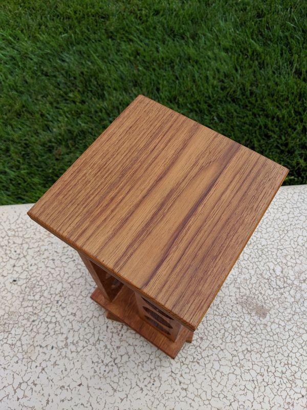 Vintage wooden swivel Spice Rack Selandia Danish