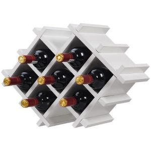 New White Wall Mounted Wine Rack with Storage Shelves and Glass Holder for Sale in Los Angeles, CA