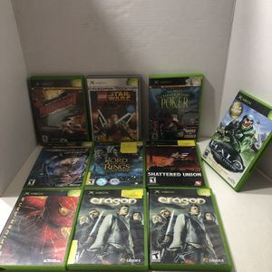 10 Original XBox games ~ Mech Assault 2 Lone Wolf Halo Combat Evolved Lego Star Wars Eragon for Sale in Monmouth, OR