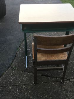 2 Vintage Child School Desk's for Sale in Portland,  OR
