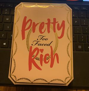 TOO FACED PRETTY RICH EYESHADOW PALETTE for Sale in Spring Valley, CA