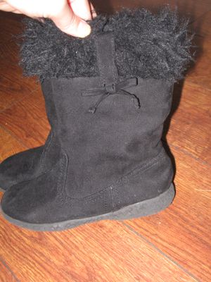 THE CHILDREN'S PLACE Girls Kids Black Suede Winter Fall Boots Sz 12 for Sale in Los Angeles, CA