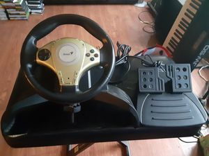 PS2 racing Wheel with pedals NEW CONDITION for Sale in Washington, DC