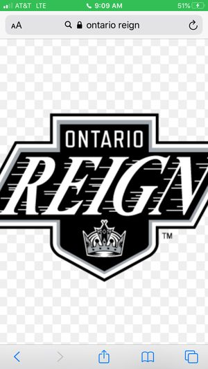 Ontario reign hokey tickets for Sale in Rancho Cucamonga, CA